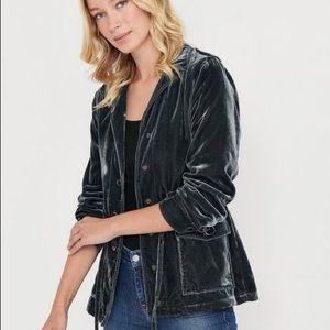 Lucky Brand Velour Utility Jacket size M